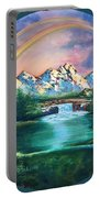 Rainbow In Mountains Portable Battery Charger