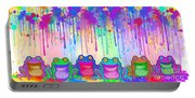 Rainbow Of Painted Frogs Portable Battery Charger