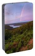 Rainbow Over Broken Bow Lake Portable Battery Charger