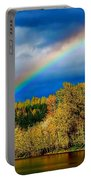 Rainbow Over Mill Pond Portable Battery Charger