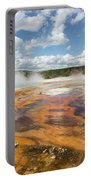 Rainbow Pool In Yellowstone National Park Portable Battery Charger