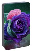 Rainbow Rose Among The Stars Portable Battery Charger