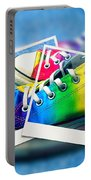 Rainbow Sneakers One Portable Battery Charger