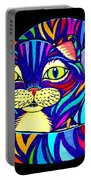 Rainbow Striped Cat 2 Portable Battery Charger