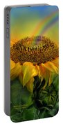 Rainbow Sunflower Portable Battery Charger
