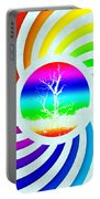 Rainbow Swirl Tree Portable Battery Charger