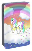 Rainbow Unicorn Clouds And Stars Portable Battery Charger