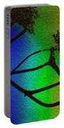 Rainbows And Stary Clouds Portable Battery Charger