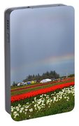 Rainbows At Tulip Festival Portable Battery Charger