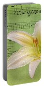 Raindrops On Lily Portable Battery Charger