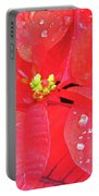 Raindrops On Red Portable Battery Charger