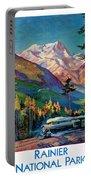 Rainier National Park Vintage Poster Restored Portable Battery Charger