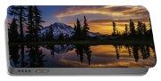 Rainier Sunrise Reflection #2 Portable Battery Charger