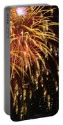 Raining Golden New Year Wishes Portable Battery Charger
