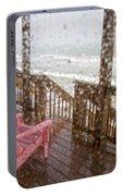 Rainy Beach Evening Portable Battery Charger