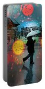 Rainy City Scene Portable Battery Charger