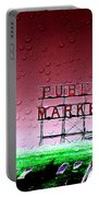 Rainy Day At The Market Portable Battery Charger
