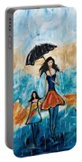 Rainy Day Blues Portable Battery Charger