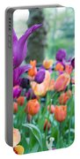Rainy Day Flowers Portable Battery Charger