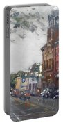 Rainy Day In Downtown Brampton On Portable Battery Charger