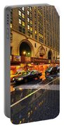 Rainy Day In Manhattan Portable Battery Charger