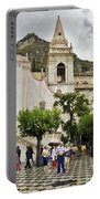 Rainy Day In Taormina 2 Portable Battery Charger