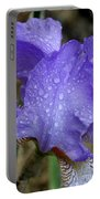 Rainy Day Iris Portable Battery Charger