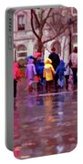 Rainy Day Rainbow - Children At Independence Square Portable Battery Charger