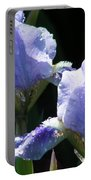 Rainy Irises Portable Battery Charger