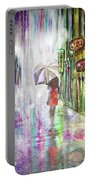 Rainy Paris Day Portable Battery Charger by Darren Cannell