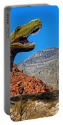 Rajasaurus In The Desert Portable Battery Charger