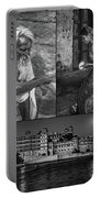 Rajasthan Collage Bw Portable Battery Charger