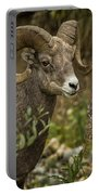 Ram Eating Fireweed Cropped Portable Battery Charger