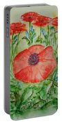 Ramonas Poppies Portable Battery Charger