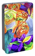 Ranunculus And Iris Portable Battery Charger