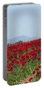 Ranunculus Red Portable Battery Charger