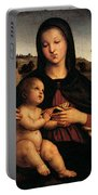 Raphael Madonna And Child C Portable Battery Charger