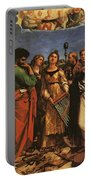 Raphael St Cecilia With Sts Paul John Evangelists Augustine And Mary Magdalene Portable Battery Charger