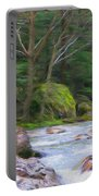 Rapids At The Rivers Bend Portable Battery Charger
