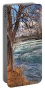 Rapids In Fall Portable Battery Charger