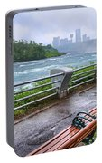Rapids In The Rain Portable Battery Charger
