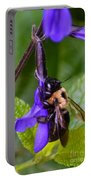 Rappelling Down A Flower Portable Battery Charger