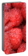Raspberries Close-up Portable Battery Charger