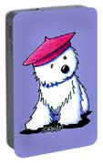 Raspberry Beret Westie Portable Battery Charger