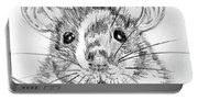 Rat Sketch Portable Battery Charger