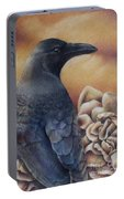 Raven And Roses Portable Battery Charger