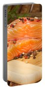 Raw Salmon Steak Portable Battery Charger
