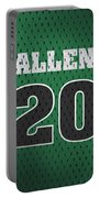 Ray Allen Boston Celtics Retro Vintage Jersey Closeup Graphic Design Portable Battery Charger