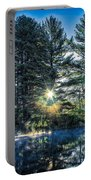Rays Of Light On The Androscoggin River Portable Battery Charger