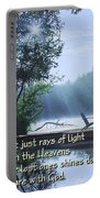Rays Of Light - Place To Ponder Portable Battery Charger
